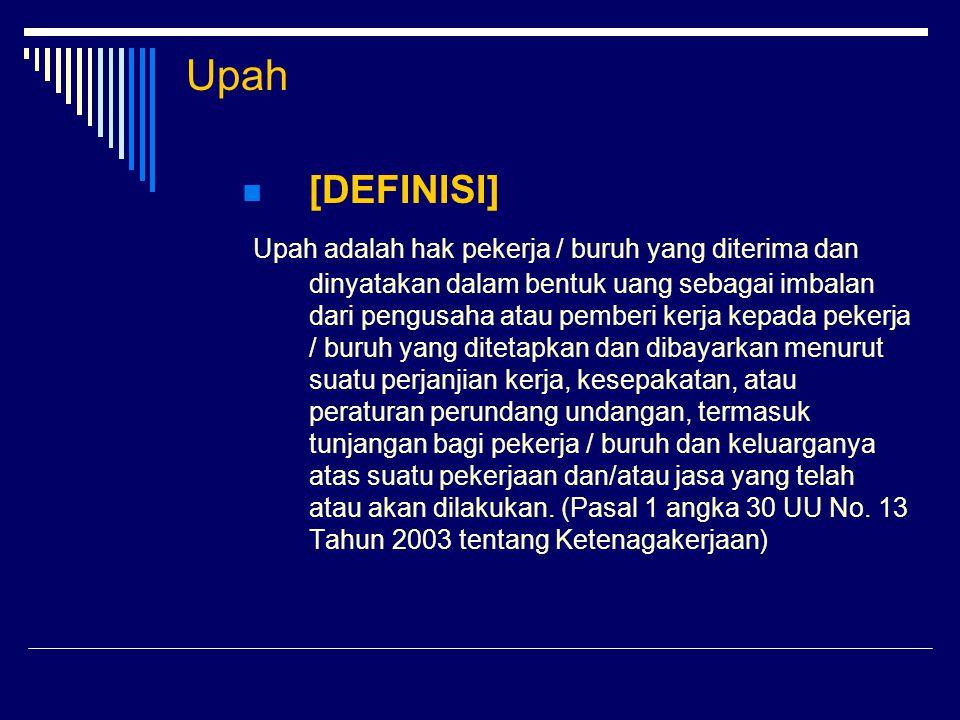 Upah [DEFINISI]